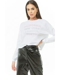 bc658be6de0d24 Lyst - Forever 21 I Love You Tokyo Graphic Tee in White