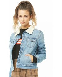 Forever 21 - Quilted-lined Denim Jacket - Lyst