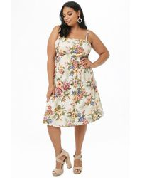 Forever 21 - Women's Plus Size Tropical Print Midi Dress - Lyst