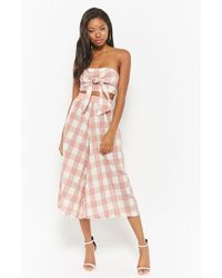 Forever 21 - Buffalo Check Tube Top & Culotte Set - Lyst
