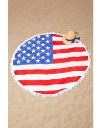 Forever 21 - South Beach Flag Beach Towel - Lyst