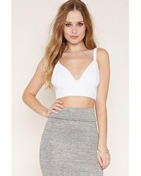 Forever 21 - Textured Crop Top - Lyst
