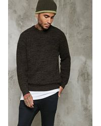 Forever 21 - Marled Waffle Knit Sweater - Lyst