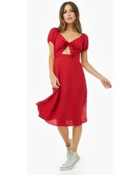 Forever 21 - Tie-front Cutout Dress - Lyst