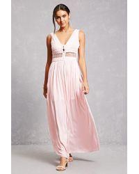 Forever 21 - Soieblu Open-knit Maxi Dress - Lyst