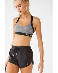 82d6aa07cd Forever 21 Sheer Mesh Biker Shorts in Black - Lyst