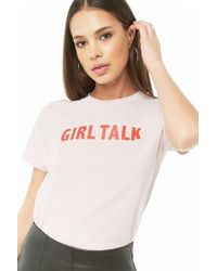 2d2cddc67 Forever 21 Emotional Graphic Tee in Pink - Lyst