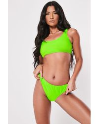 Missguided - Neon Bikini Top At - Lyst