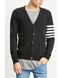 Forever 21 - Stripe-sleeve Cardigan - Lyst