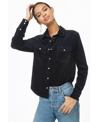 Forever 21 - Button-down Corduroy Shirt - Lyst