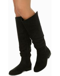 Forever 21 - Slouchy Faux Suede Boots - Lyst