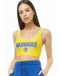 Forever 21 - Nba Warriors Graphic Crop Top - Lyst