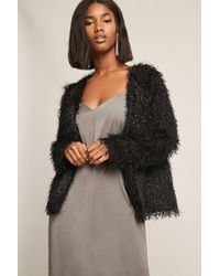 Forever 21 - Fuzzy Open-front Jacket - Lyst