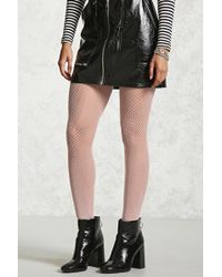 Forever 21 - Geo Fishnet Tights - Lyst