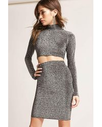 Forever 21 - Metallic Bodycon Skirt - Lyst