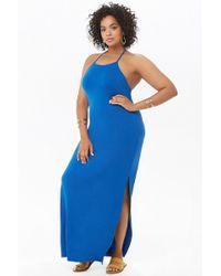 8d90754c0c69 Forever 21 Plus Size Maxi Wrap Dress in Blue - Lyst