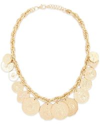 Forever 21 - Statement Coin Pendant Necklace , Gold - Lyst