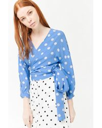 Forever 21 - Polka Dot Wrap Top - Lyst
