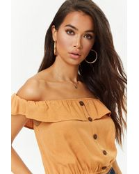 Forever 21 - Flounce Off-the-shoulder Top - Lyst