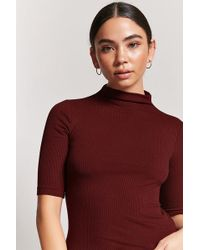 ac1a6e7eda0de Lyst - Forever 21 Crisscross Ribbed Knit Top in White