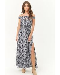 Forever 21 - Off-the-shoulder Ornate Maxi Dress - Lyst
