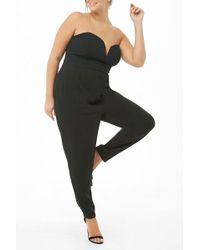 a9ea07195cf Forever 21 - Women s Plus Size Harem Tube Jumpsuit - Lyst
