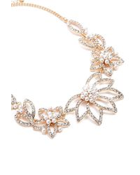 Forever 21 - Faux Pearl Floral Necklace - Lyst
