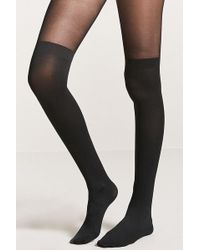 Forever 21 - Partial Opaque Tights - Lyst