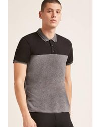 Forever 21 - Marled Colorblock Polo - Lyst