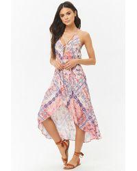 Forever 21 - Ornate Floral High-low Halter Dress - Lyst