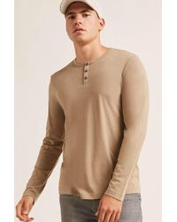 Forever 21 - Classic Henley Tee - Lyst
