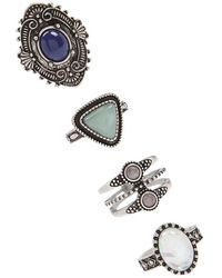 Forever 21 - Boho Faux Gem Ring Set - Lyst