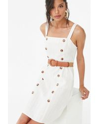 Forever 21 Women's Striped Belted Mini Dress