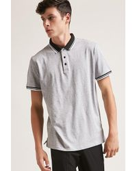 Forever 21 - Heathered Knit Polo - Lyst