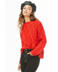 Forever 21 - Cable Knit Sweater - Lyst
