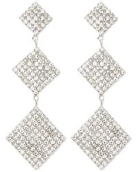 Forever 21 - Tiered Square Rhinestone Drop Earrings - Lyst