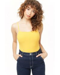 Forever 21 - Body canalé tirantes - Lyst
