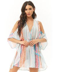 d83c7484816fe Forever 21 - Abstract Kaftan Swim Cover-up - Lyst
