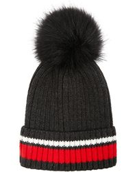bc58ff3e539 Recently sold out. Forever 21 - Pom Pom Striped Beanie - Lyst