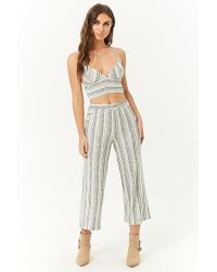 Forever 21 - Striped Cropped Cami & Pants Set - Lyst
