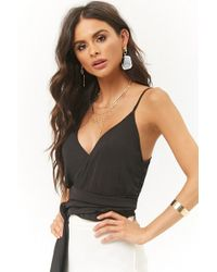 Forever 21 - Women's Self-tie Sash Cropped Camisole Top - Lyst