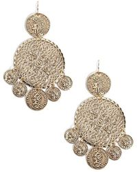 Forever 21 - Filigree Coin Drop Earrings - Lyst