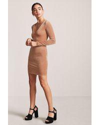 Forever 21 - Velvet V-neck Mini Dress - Lyst