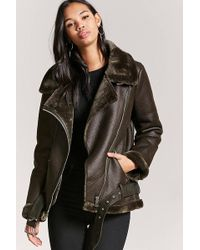 Forever 21 - Faux Leather Moto Jacket - Lyst