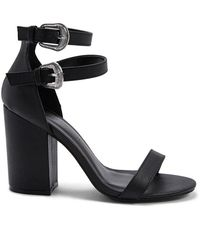 Forever 21 - Faux Leather Chunky Heels - Lyst