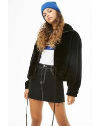 Forever 21 - Plush Zip-front Jacket - Lyst