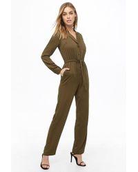f33bd682bbef Forever 21 - Tie-waist Drawstring Jumpsuit - Lyst