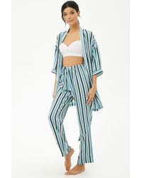 64338122fad Forever 21 Candy Striped Robe in Pink - Lyst