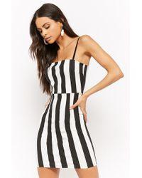 Forever 21 - Striped Bodycon Mini Dress - Lyst