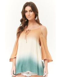 Forever 21 - Ombre Open-shoulder Top - Lyst